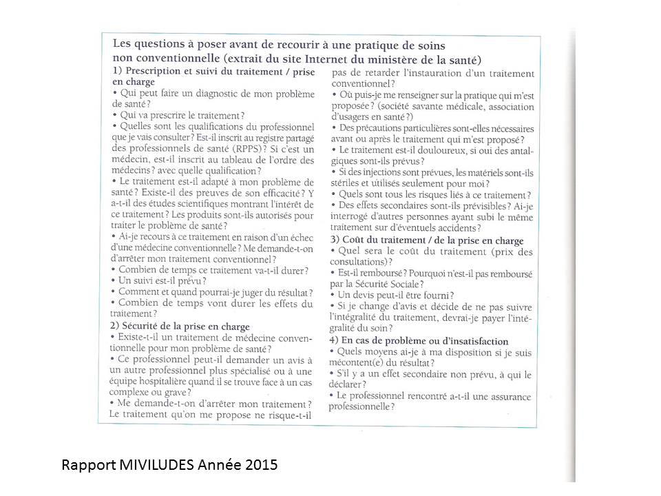 Extrait rapport Miviludes 2015